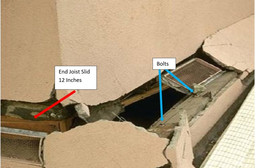 House slid off foundation in the Northridge Earthquake