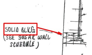 Drawing from another engineer showing nailed blocks