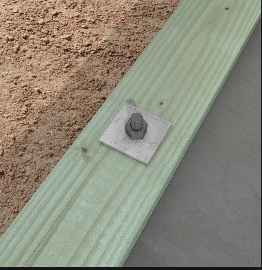 Plate Washer on Foundation Bolt