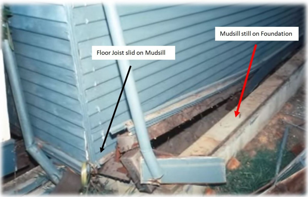MUDSILLS CAN STAY ON THE FOUNDATION AND THE FLOOR STILL MOVE