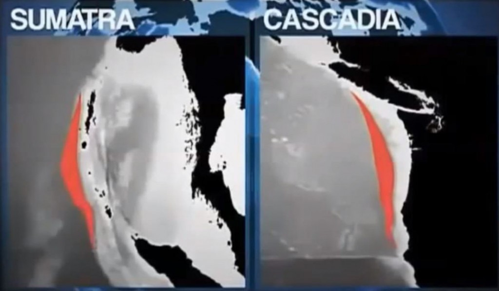 Mirror images of the Sumatra and Cascadia Faults. The Hayward Fault earthquakes will be part of a rupture on the Cascadia Fault.