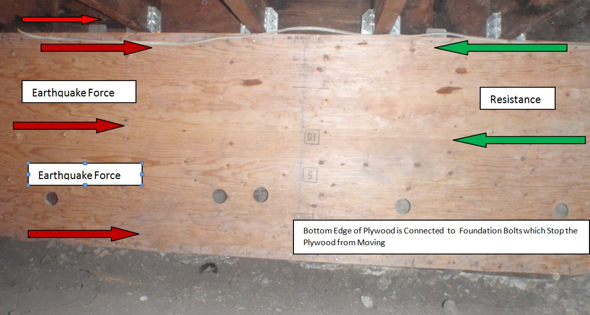 Counter Force On Plywood Bay Area Retrofit