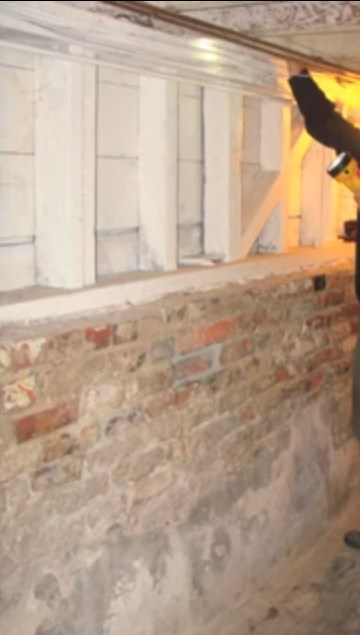 Brick foundation strong enough for retrofitting